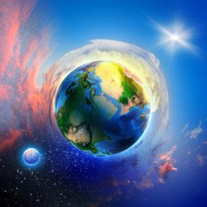 Weltkugel mit TagundNacht